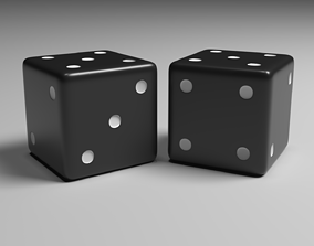 Dice Black and White 3D model