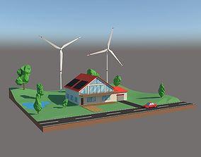 3D model Alternative Energy Cartoon