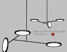 3D Discus Three Pendant Light Jamie Gray