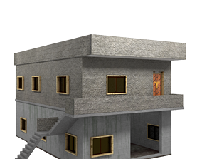 3D Two Storey Syrian House realtime