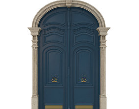 3D Entrance classic door 21