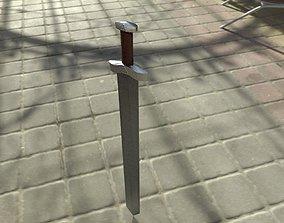 3D asset VR / AR ready PBR Sword