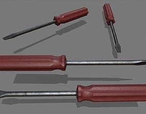 build 3D model VR / AR ready screwdriver