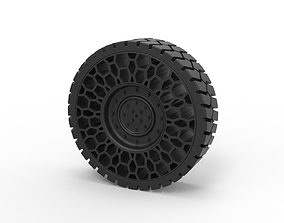 Diecast Twheel for Hammer H1 3D printable model