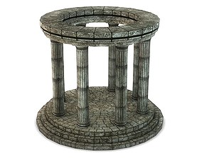 Stone Oracle Temple 3D Model