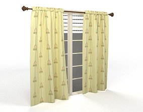 Curtains window 3D model