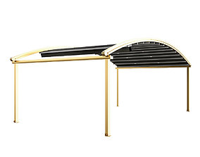3D model Motorized Pergola 4 brass furniture matte
