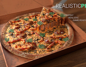 realistic Pizza 3D asset