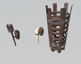 3D model Dungeon and Castle Light Sources PBR