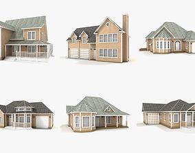 3D Hi-poly cottages collection vol 14