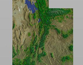 Utah State in 3ds and obj formats
