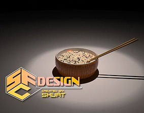 Reisschuessel - rice cup 3D chopsticks