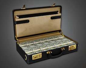 Cash Filled Briefcase BHE - PBR Game 3D asset