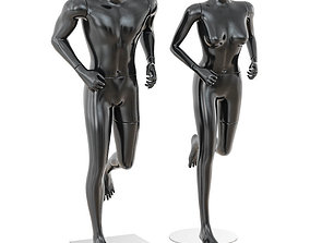 3D Running mannequin man and woman 36