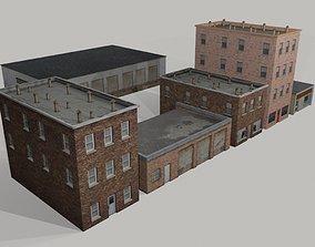 Old Buildings 3D asset