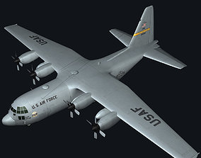 C130 Hercules Military Transport Plane army 3D