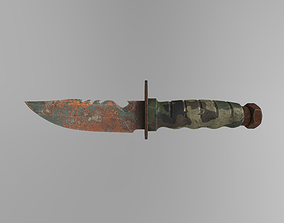 Saw Fish Knife Game-Ready Midpoly PBR 3D model