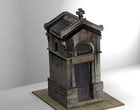 3D model Weathered Mausoleum architecture