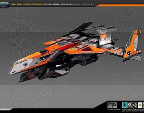 SF REBEL Fighter RF8 3D asset low-poly