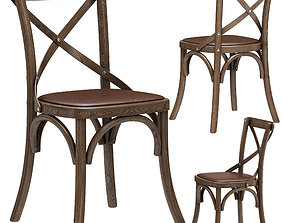 3D Restoration Hardware Madeleine Leather Side Chair