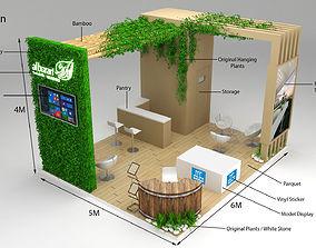 3D model Exhibition Stand Al Barari 6x5m 30sqm