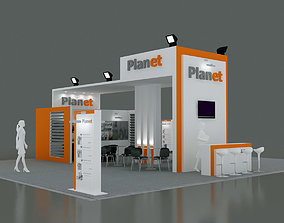 Exhibition Stand - ST0051 3D model