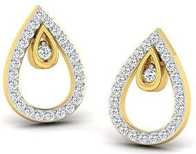 Women earrings 3dm render detail jewel delicate gold