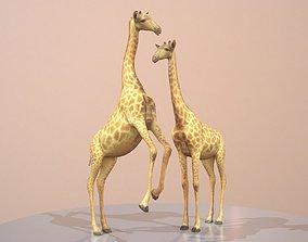 Giraffe Rigged 3D asset