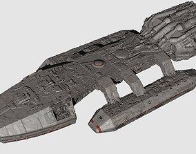3D model Battlestar Galactica Nova Class