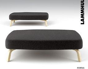lammhults portus bench 3D model