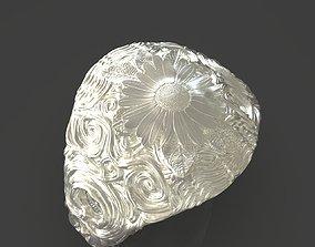 Jewelry Flower Ring 3D printable model