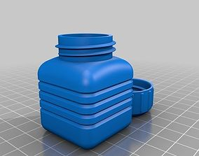 3D printable model capacity Bottle and Screw Cap