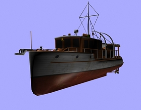3D asset Small Boat
