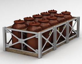 Acid Tanks - Ceramic 3D model