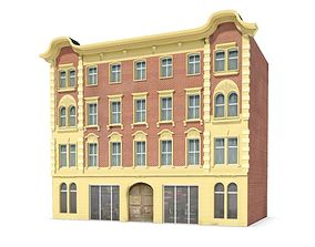 3D Brick Colonial Style Building