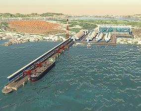 Sea port complex 3D model
