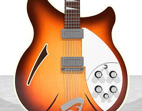 Rickenbacker 12 String Guitar - Tobacco Sunburst Finish 3D
