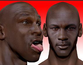 Michael Jordan 3d bust - 2 versions face