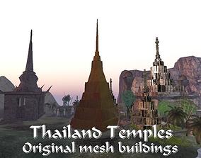 Thailand Ruins Temples 3D model