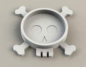 3D print model Skull Coaster