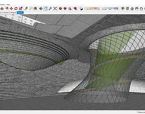 Sketchup Cultural center F2 3D model
