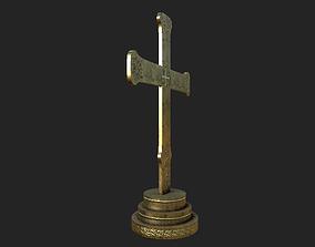 3D asset Medieval Altar Cross