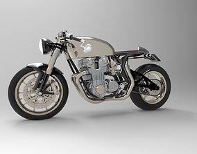 motorcycle custom 3D model rigged