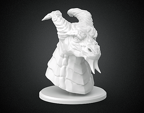 Dragon head with stand for printing 3D printable model
