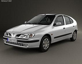 3D model Renault Megane 5-door hatchback 1995