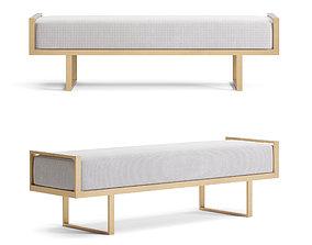 3D Bedside interior upholstered bench