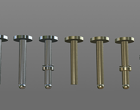 connector Screws with nuts 3D model
