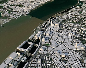3D model Liverpool City in England
