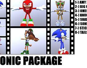 Sonic Package 3D model