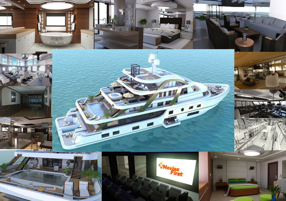 Now on sale! Mega Yatch With Interior